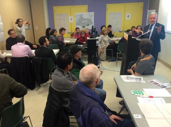 participatory budgeting meeting last fall