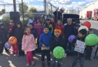 Children rally for middle school