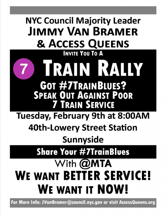 MTA - 7 Train Rally for better service 031015