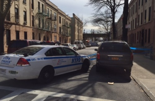 Police close off 54th Street between Roosevelt and Skillman Avenues
