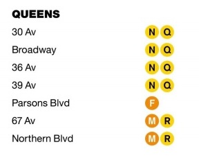 Stations to be Upgraded in Queens