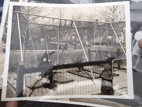 Old photo of Phipps Playground