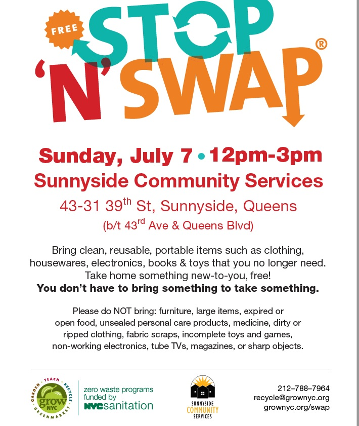 Swap Your Clean, Reusable Items at Sunnyside 'Stop 'N' Swap