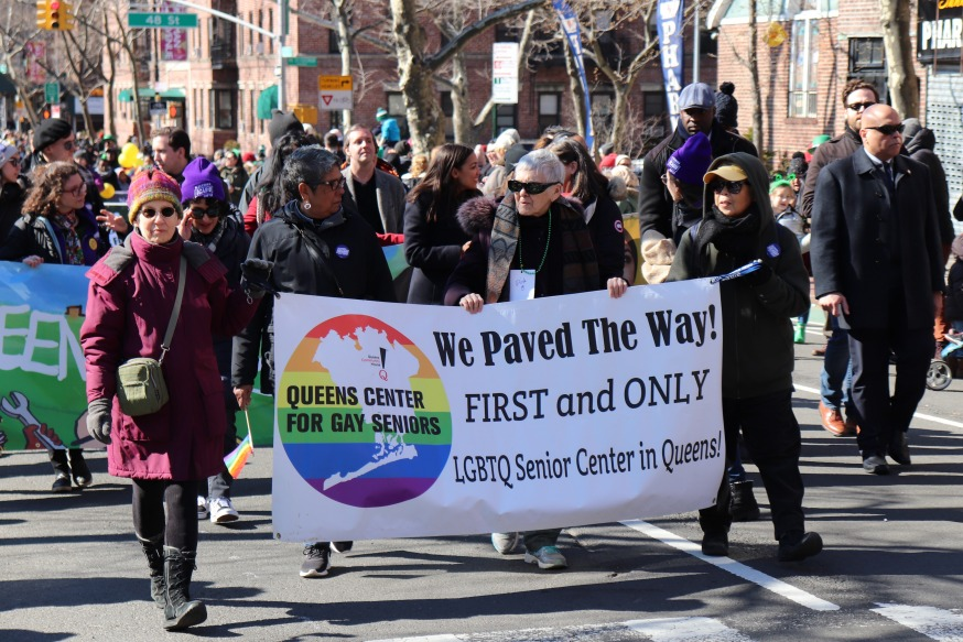 St Pats For All Parade 2020, Queens Center for Gay seniors. Image: Michael Dorgan, Sunnyside Post